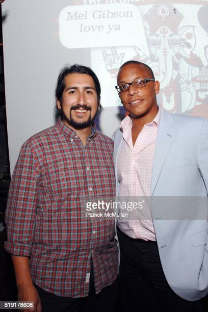 Florencio Zavala Chris Hopkins attend The Supper Club Shepard Fairey's SNO host a Bombay Sapphire Tea Party at The Tea Room on July 20 2010 in...