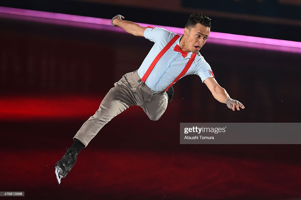 <a gi-track='captionPersonalityLinkClicked' href=/galleries/search?phrase=Florent+Amodio&family=editorial&specificpeople=5639715 ng-click='$event.stopPropagation()'>Florent Amodio</a> of France performs his routine in the exhibition on the day four of the ISU World Team Trophy at Yoyogi National Gymnasium on April 19, 2015 in Tokyo, Japan.