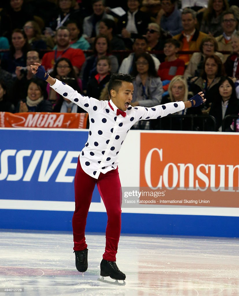 <a gi-track='captionPersonalityLinkClicked' href=/galleries/search?phrase=Florent+Amodio&family=editorial&specificpeople=5639715 ng-click='$event.stopPropagation()'>Florent Amodio</a> of France skates in the mens short program on October 23, 2015 in Milwaukee, Wisconsin.