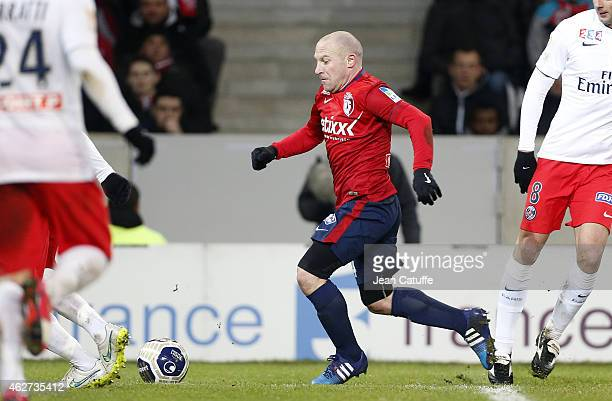 Florent Balmont of Lille in action during the French League Cup match between Lille OSC and Paris SaintGermain at Grand Stade Pierre Mauroy on...