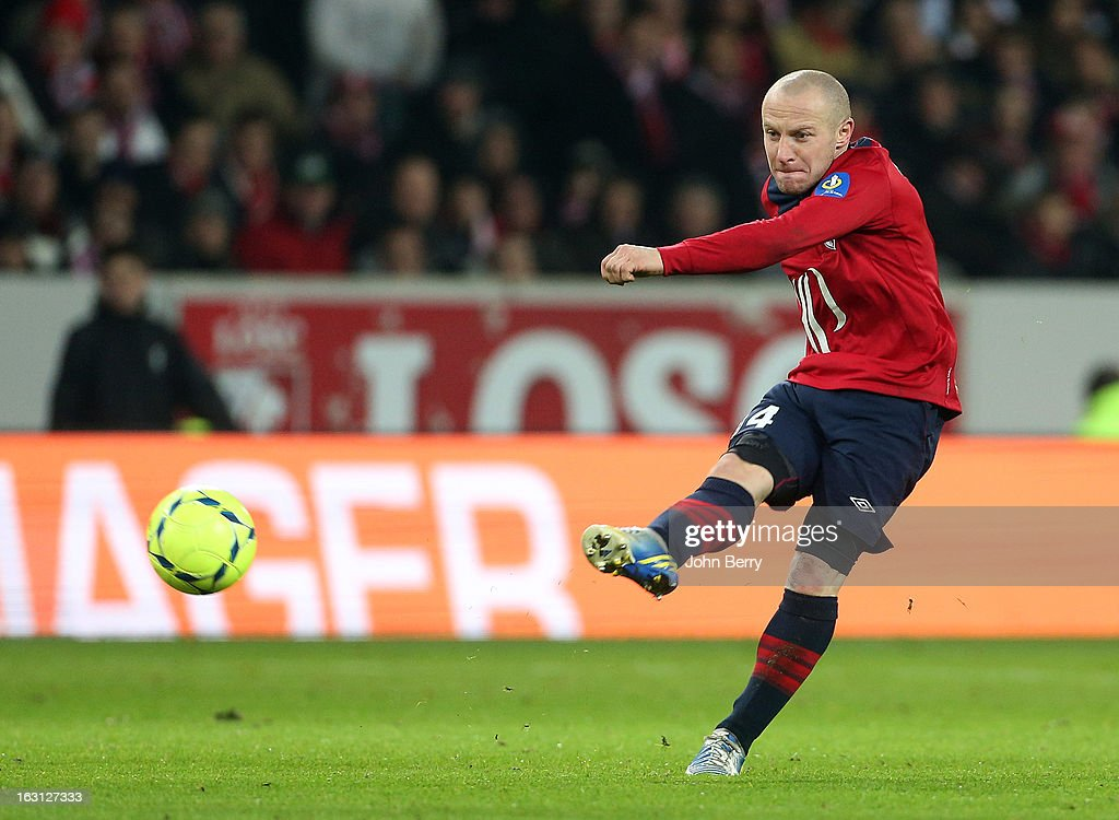 Florent Balmont of Lille in action during the french Ligue 1 match between Lille LOSC and FC Girondins de Bordeaux at the Grand Stade Lille Metropole on March 3, 2013 in Lille, France.