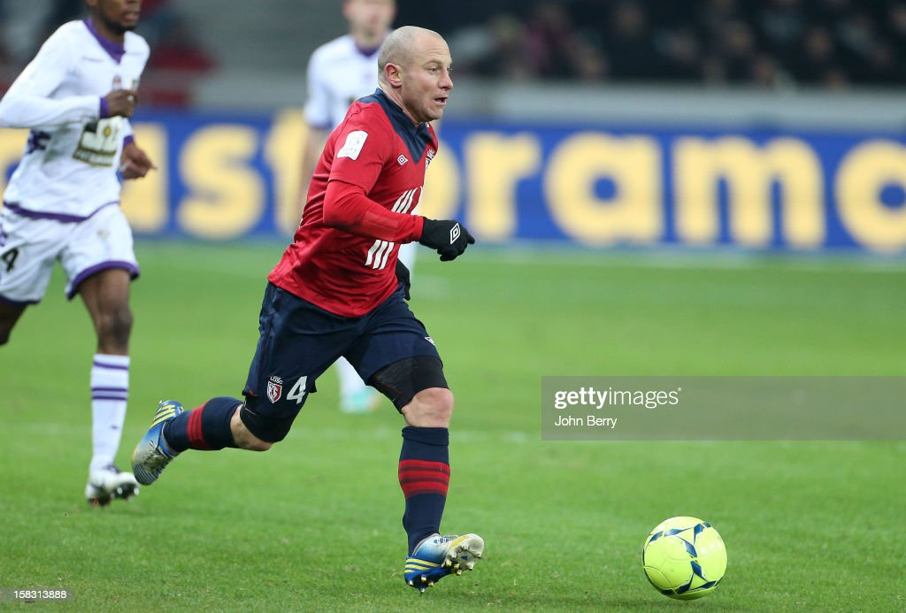 Florent Balmont of LOSC in action during the French Ligue 1 match between Lille OSC and Toulouse FC at the Grand Stade Lille Metropole on December 11, 2012 in Lille, France.