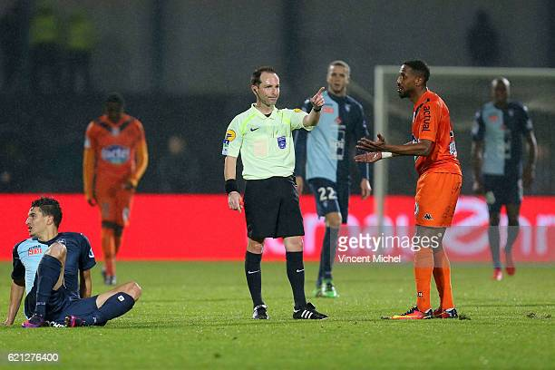 Florent Batta referee during the Ligue 2 match between Stade Lavallois and Le Havre AC on November 4 2016 in Laval France