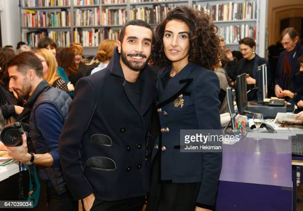 Florent Buonomano and Brune Buonomano attend the launch and book signing of Mastermind Magazine as part of Paris Fashion Week Womenswear Fall/Winter...