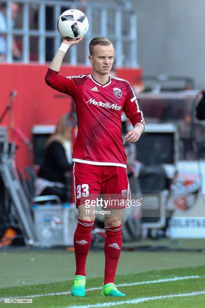 Florent Hadergjonajof Ingolstadt controls the ball during the Bundesliga match between FC Ingolstadt 04 and 1 FSV Mainz 05 at Audi Sportpark on April...