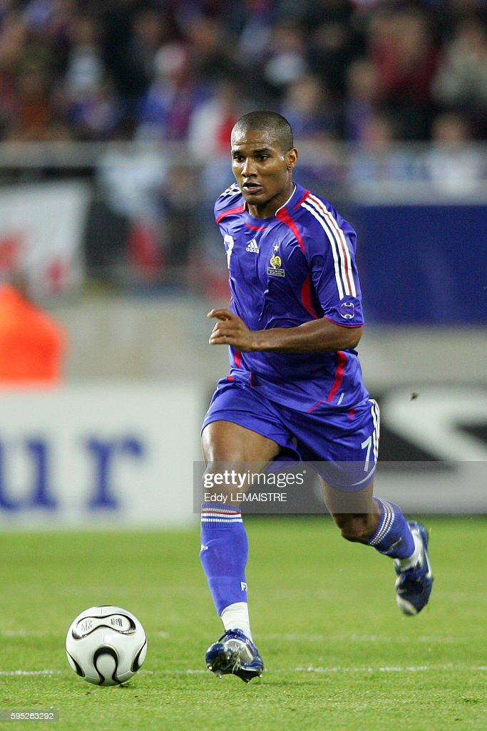 Florent Malouda during the Euro 2008 qualifying match between France and Faroe Islands in Sochaux