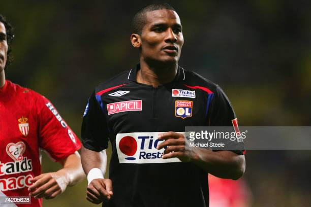 Florent Malouda of Lyon during the Ligue 1 match between Monaco and Lyon at the Stade Louis II May 19 2007 in Monte Carlo Monaco