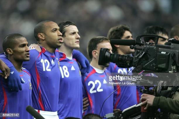 Florent MALOUDA Thierry HENRY Sebastien SQUILLACI France / Argentine Match amical Stade de France Saint Denis