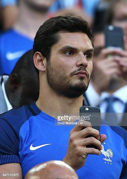 Florent Manaudou looks on during the UEFA Euro 2016 Semi Final match between Germany and France at Stade Velodrome on July 07 2016 in Marseille France
