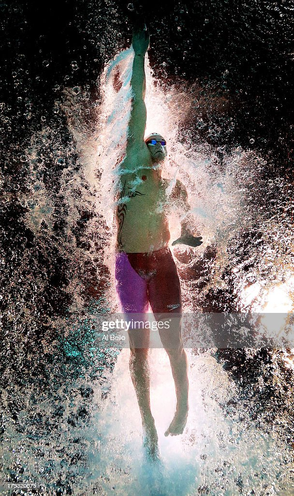 Florent Manaudou of France competes during the Swimming Men's Freestyle 50m Semifinal heat 2 on day fourteen of the 15th FINA World Championships at Palau Sant Jordi on August 2, 2013 in Barcelona, Spain.