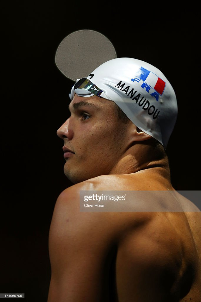<a gi-track='captionPersonalityLinkClicked' href=/galleries/search?phrase=Florent+Manaudou&family=editorial&specificpeople=6567518 ng-click='$event.stopPropagation()'>Florent Manaudou</a> of France looks on ahead of the Swimming Men's 50m Butterfly Final on day ten of the 15th FINA World Championships at Palau Sant Jordi on July 29, 2013 in Barcelona, Spain.