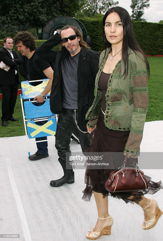 Florent Pagny and Wife during Paris Haute Couture Fashion Week Fall/Winter 2005 Christian Dior Arrivals at Polo de Paris in Paris France