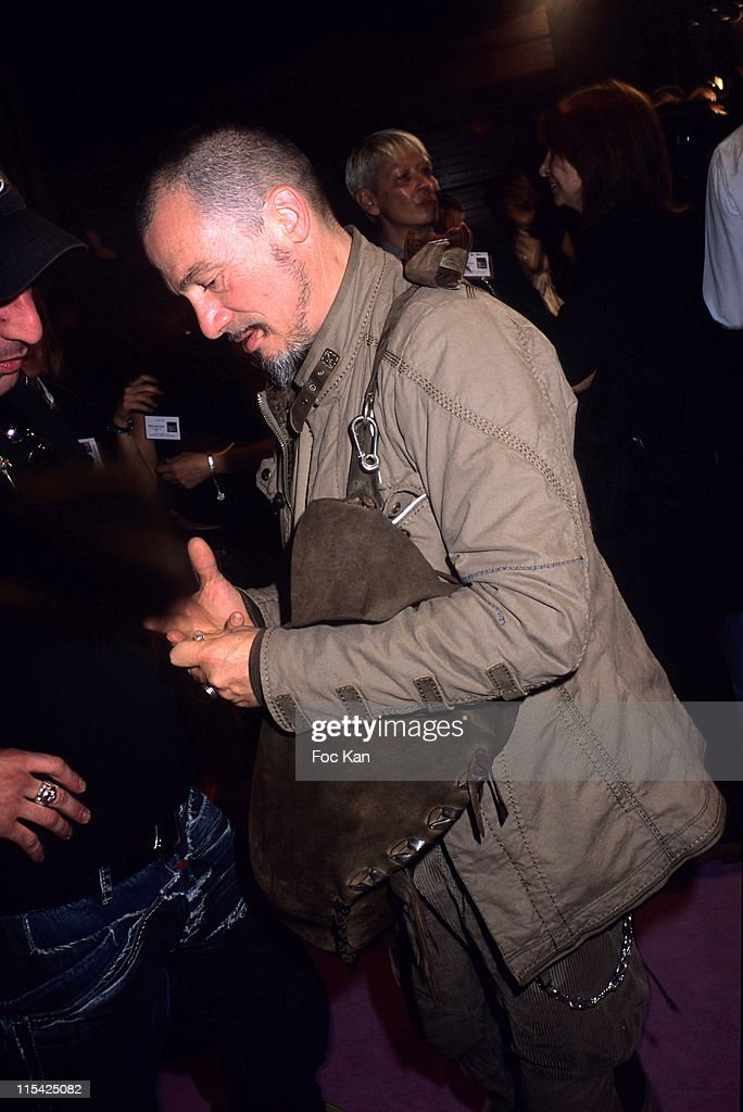 Florent Pagny during Paris Fashion Week Spring/Summer 2007 Marithe et Francois Girbaud Front Row at Carrousel Du Louvre in Paris France
