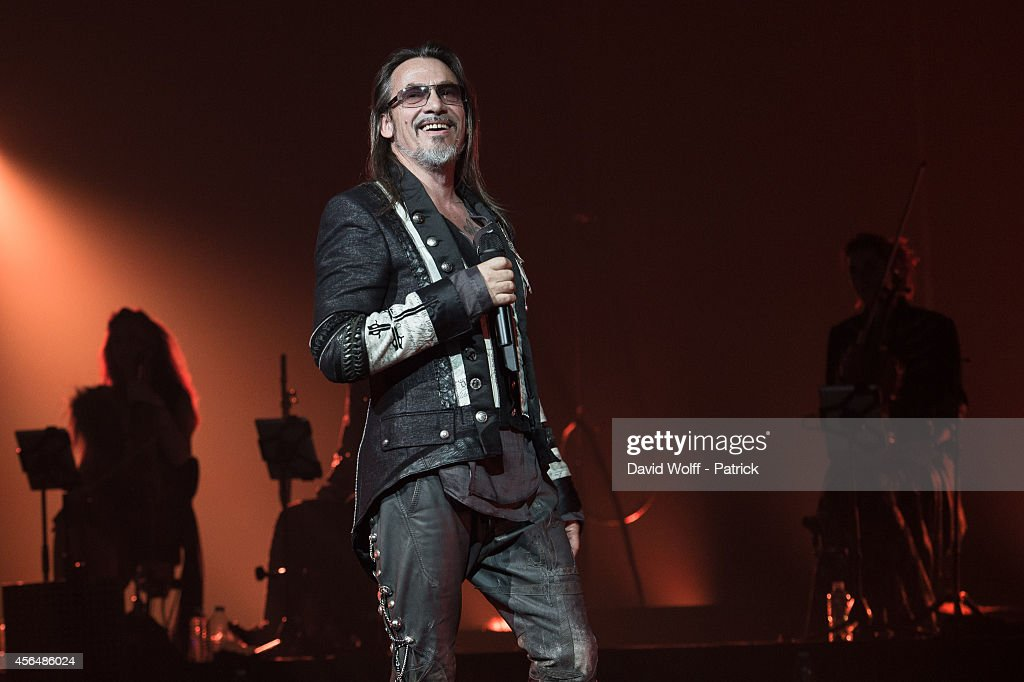 Florent Pagny performs at Palais des Sports on October 1 2014 in Paris France