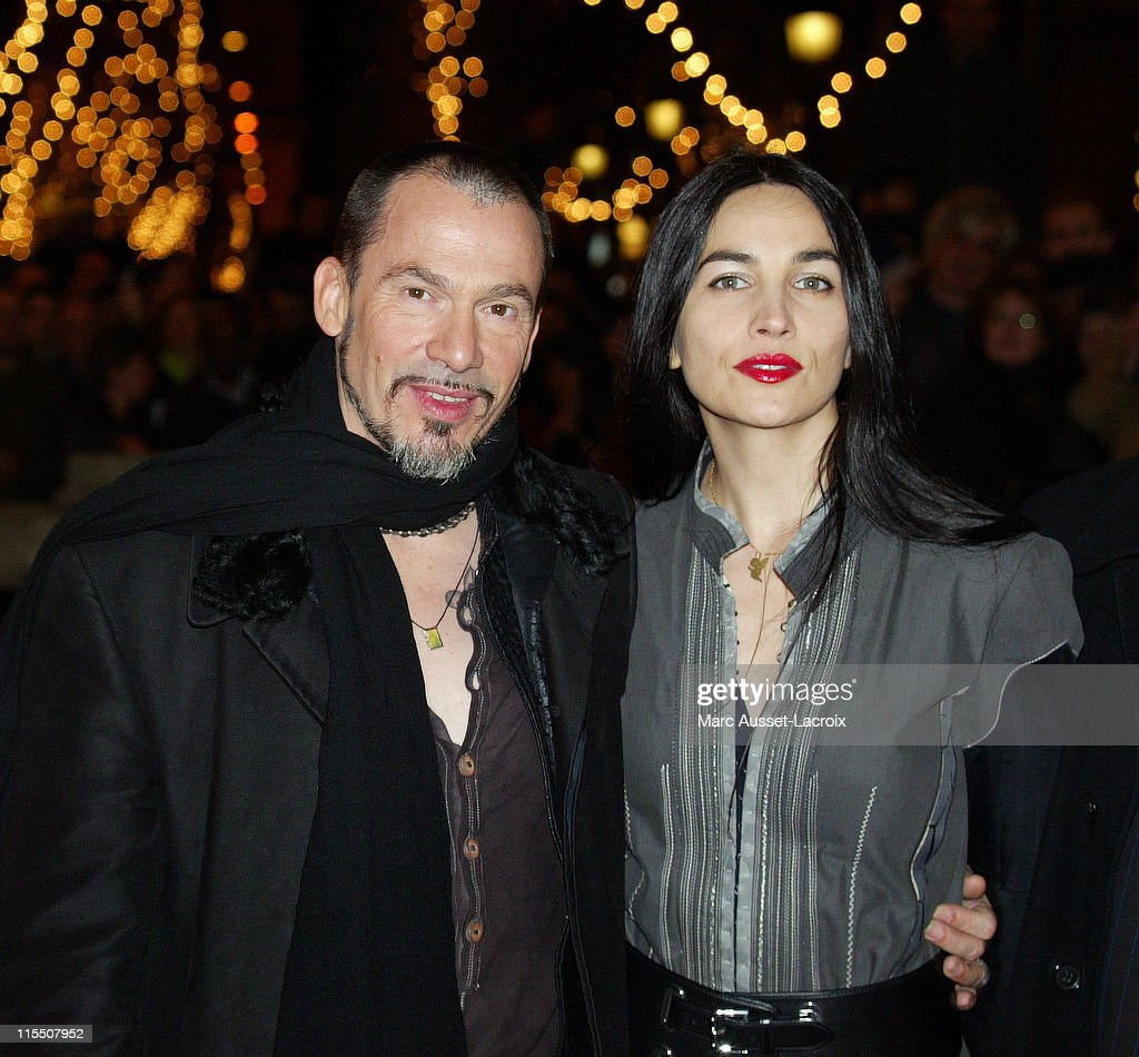 Florent Pagny with his wife Azucena during Florent Pagny at the Lighting of Champs Elysees in Paris November 28 2006 at Champs Elysees in Paris France