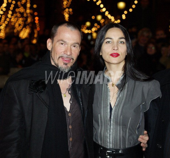 Florent Pagny With His Wife Azucena During Florent Pagny At The Wireimage 115507952