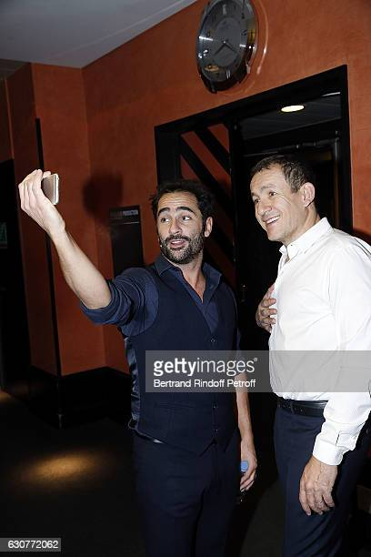 Florent Peyre and Dany Boon attend 'Dany Boon des Hauts de France' Show at L'Olympia on December 31 2016 in Paris Franc