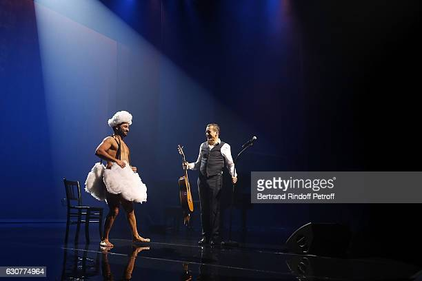 Florent Peyre and Dany Boon perfom 'Dany Boon des Hauts de France' Show at L'Olympia on January 01 2017 in Paris France