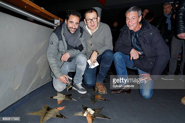 Florent Peyre Dany Boon and François Levantal attend 'RAID Dingue' premiere at Kinepolis of Lomme near Lille on December 20 2016 in Lomme France
