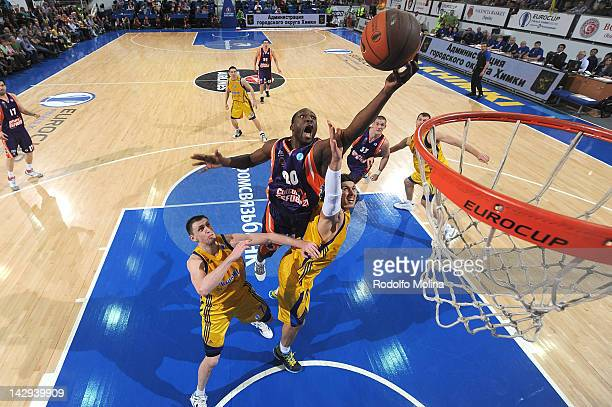 Florent Pietrus of Valencia Basket in action during the 2012 Eurocup Basketball Final Game between BC Khimki Moscow Region v Valencia Basket at...
