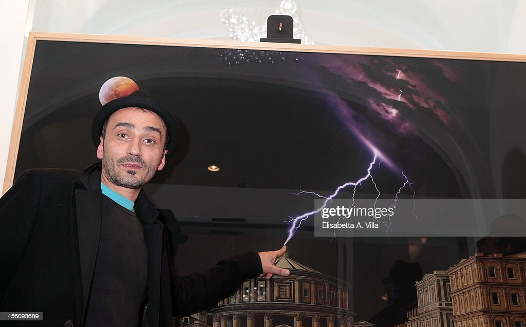 Florentin Georgescu aka Geo Fiorenti attends the 'Luce Preziosa' presentation at the GB ENIGMA by Gianni Bulgari boutique on December 13, 2013 in Rome, Italy. Luce Preziosa is an inspiring christmas jewellery and light TechoArt opera by the artist Geo Florenti.
