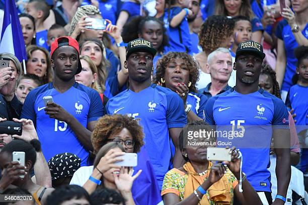 Florentin Pogba and Mathias Pogba during the European Championship Final between Portugal and France at Stade de France on July 10 2016 in Paris...