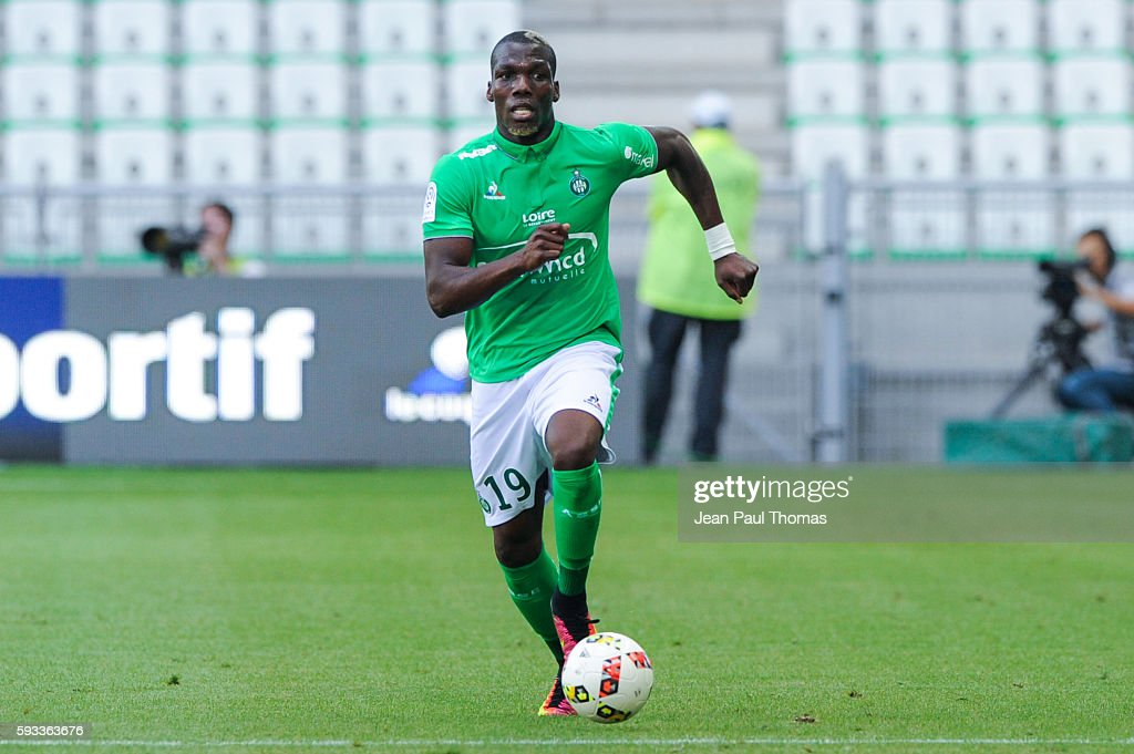 Florentin POGBA of Montpellier during the Ligue 1 match between As Saint Etienne and Montpellier Herault at Stade GeoffroyGuichard on August 21 2016...