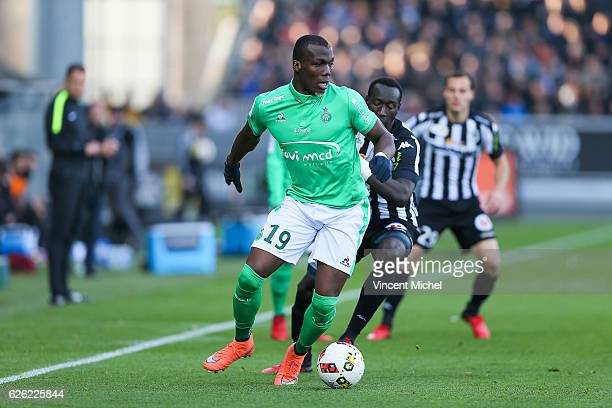 Florentin Pogba of SaintEtienne during the French Ligue 1 match between Angers and Saint Etienne on November 27 2016 in Angers France