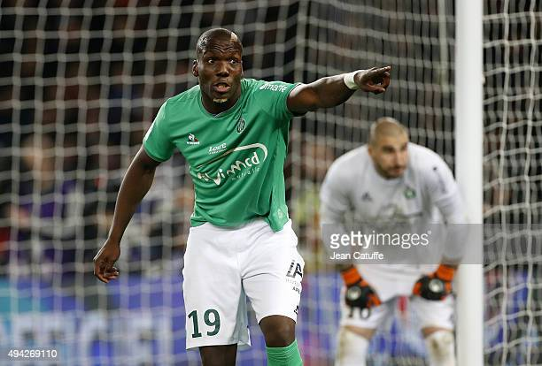 Florentin Pogba of SaintEtienne gestures during the French Ligue 1 match between Paris SaintGermain and AS SaintEtienne at Parc des Princes stadium...