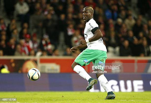 Florentin Pogba of SaintEtienne in action during the French Ligue 1 match between Lille OSC and AS SaintEtienne at Stade Pierre Mauroy on December 2...
