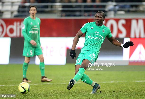 Florentin Pogba of SaintEtienne in action during the French Ligue 1 match between Stade de Reims and AS SaintEtienne on January 24 2016 in Reims...