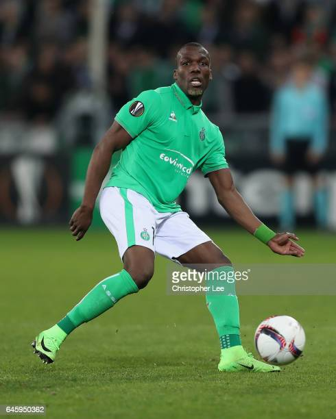 Florentin Pogba of SaintEtienne in action during the UEFA Europa League Round of 32 second leg match between AS SaintEtienne and Manchester United at...