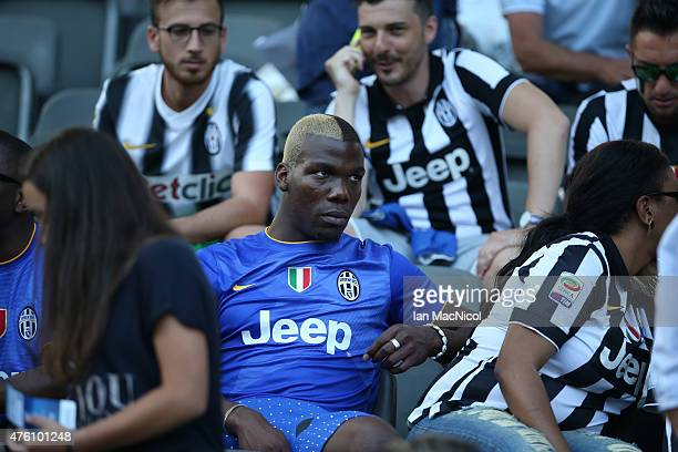 Florentin Pogba the St Etiene footballer and brother of Juventus player Paul Pogba looks on during the UEFA Champions League Final between Barcelona...