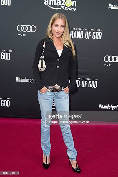 Florentine Lahme attends the German premiere of the TV show 'Hand of God' on August 31 2015 in Berlin Germany