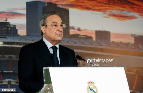 Florentino Perez of Real Madrid at Bernabeu stadium on July 7 2017 in Madrid Spain