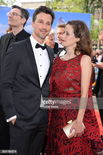 Florian David Fitz and Anja Knauer attend the Lola German Film Award 2016 Red Carpet Arrivals on May 27 2016 in Berlin Germany
