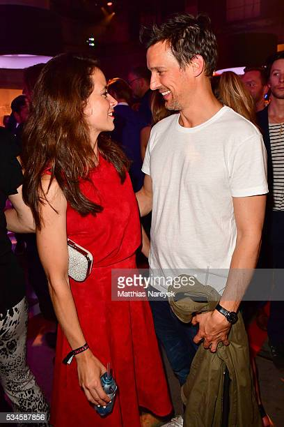 Florian David Fitz and Anja Knauer during the New Faces Award Film 2015 at ewerk on May 26 2016 in Berlin Germany