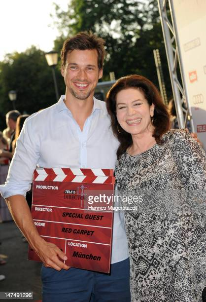 Florian David Fitz and Hannelore Elsner attend the 'Tele 5 Director's Cut' during the Munich Film Festival at the Praterinsel on June 30 2012 in...