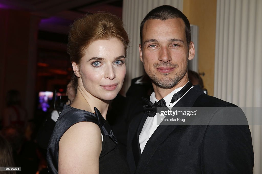 Florian David Fitz and Thekla Reuten attend the Germany Filmball 2013 on January 19, 2013 in Munich, Germany.
