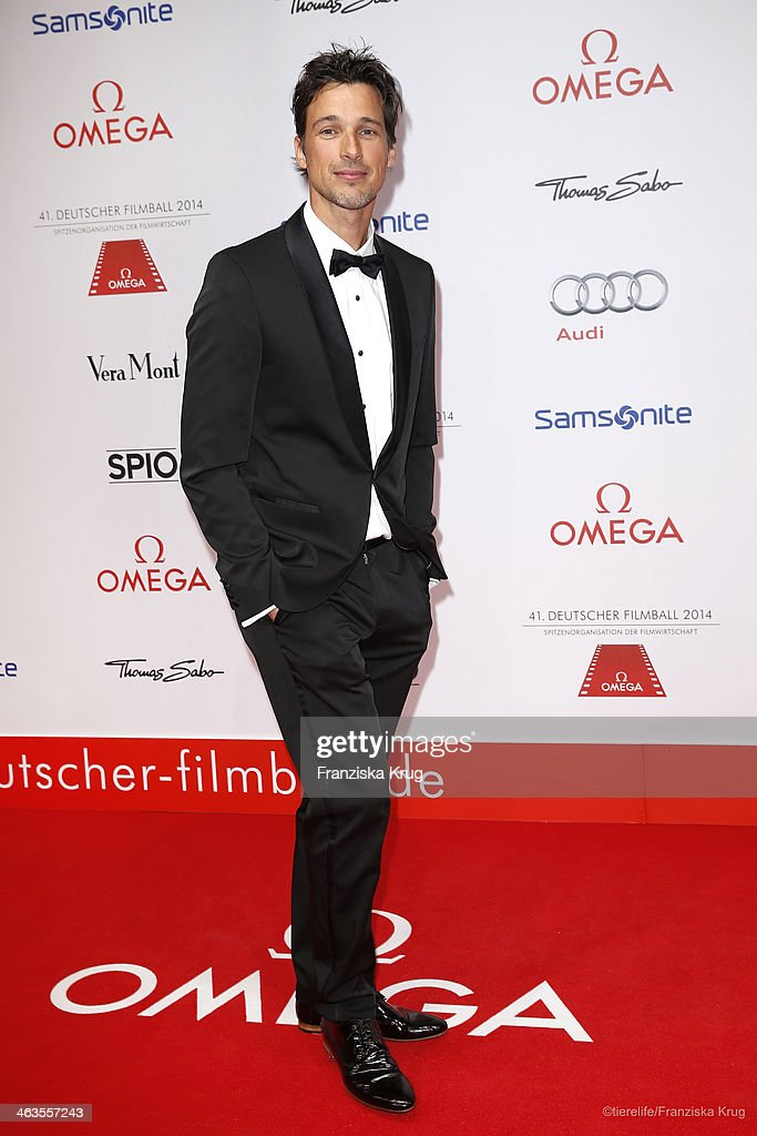 <a gi-track='captionPersonalityLinkClicked' href=/galleries/search?phrase=Florian+David+Fitz&family=editorial&specificpeople=4218706 ng-click='$event.stopPropagation()'>Florian David Fitz</a> attends the German Film Ball 2014 (Deutscher Filmball) on January 18, 2014 in Munich, Germany.