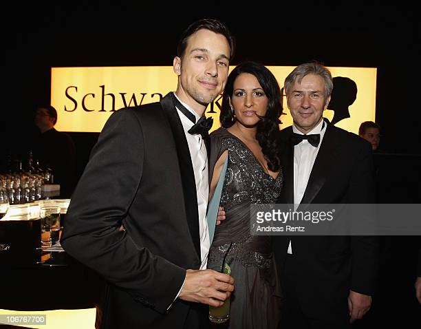 Florian David Fitz Minu BaratiFischer and Klaus Wowereit attend the Bambi 2010 Award After Show Party at Filmpark Babelsberg on November 11 2010 in...