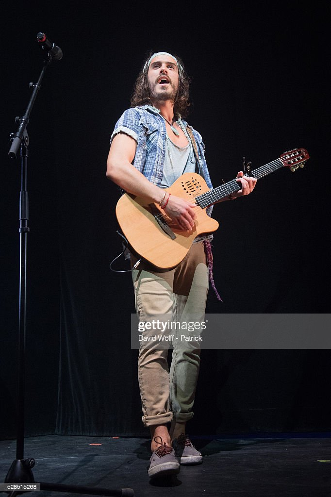 Florian Delavega from Frero Delavega performs at L'Olympia on May 5, 2016 in Paris, France.