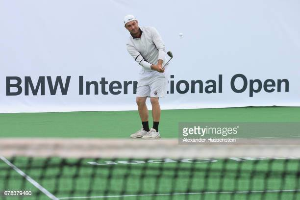 Florian Fritsch attends a fun golf and tennis challenge during the 102 BMW Open by FWU at Iphitos tennis club on May 4 2017 in Munich Germany