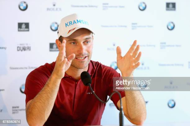 Florian Fritsch attends a press conference during the 102 BMW Open by FWU at Iphitos tennis club on May 4 2017 in Munich Germany
