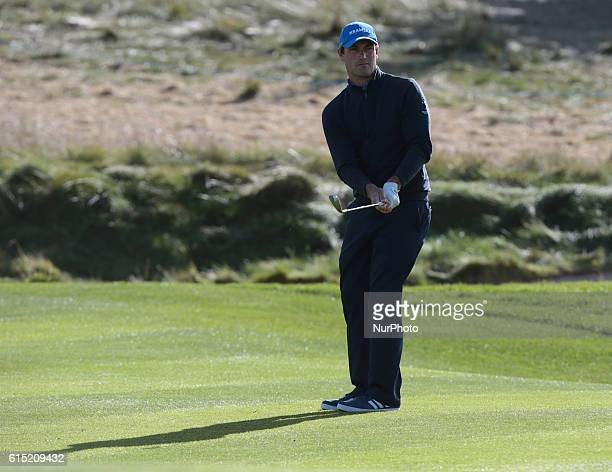 Florian Fritsch of Germany during The British Masters 2016 supported by SkySports Round 4 at The Grove Golf Course on October 16 2016 in Watford...