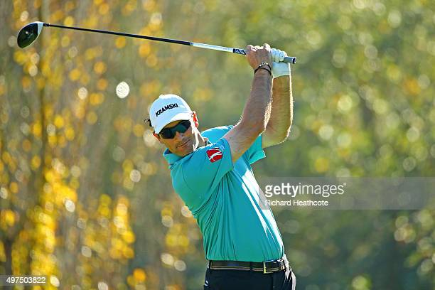 Florian Fritsch of Germany in action during the fourth round of the European Tour Qualifying School Final at PGA Catalunya Resort on November 17 2015...