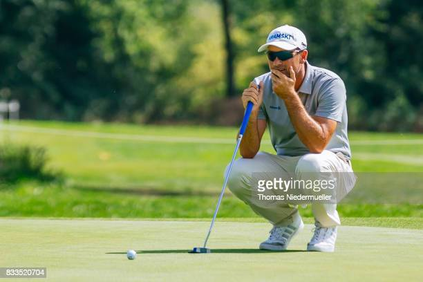 Florian Fritsch of Germany is seen at day one of the Saltire Energy Paul Lawrie Matchplay at Golf Resort Bad Griesbach on August 17 2017 in Passau...