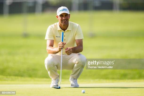 Florian Fritsch of Germany is seen during day two of the Saltire Energy Paul Lawrie Matchplay at Golf Resort Bad Griesbach on August 18 2017 in...