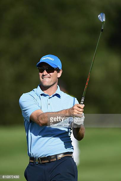 Florian Fritsch of Germany looks on during the final round of the Porsche European Open at Golf Resort Bad Griesbach on September 25 2016 in Passau...