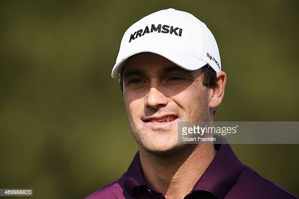 Florian Fritsch of Germany looks on during the second round of the Porsche European Open at Golf Resort Bad Griesbach on September 25 2015 in Passau...
